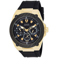 Guess W1049G5 Round Black Dial Analog Watch