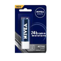 NIVEA Men Lip Balm, Active Care SPF for 24h Moisture