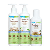 Mamaearth Rice Water Shampoo & Conditioner With Rice Hair Oil &