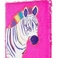 Accessorize Reversible Sequin Zoe Zebra Notebook