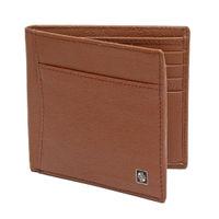 Carlton London Accessories RFID Mens Leather BI Fold Wallet Tan