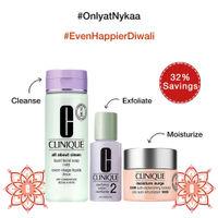 Clinique Cleanse, Exfoliate & Hydrate Trio For Dry Skin