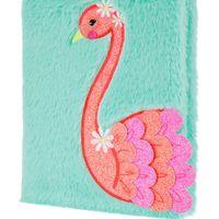 Accessorize Flora Flamingo Fluffy Notebook