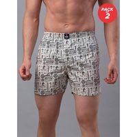 Underjeans by Spykar Cotton Boxers - Pack Of 2 - White