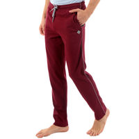 ALMO Fresco Slim Fit Cotton Track Pants - Purple