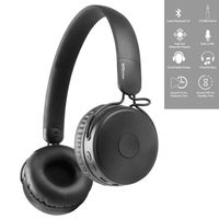 Portronics Muffs M Wireless Bluetooth 5.0 Stereo On-Ear Headphones Hands Free Mic & AUXPort (Black)