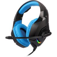 Zebronics Zeb-rush (blue) Premium Gaming Headphone With Rgb Leds, Dual 3.5mm Jack