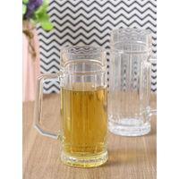 Oberglas Gambrinus Glass Beer Mug Set, 550ml, Set Of 2, Transparent