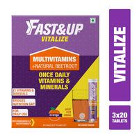 Fast&Up Vitalize Multivitamin Natural Beetroot Supplements - Orange