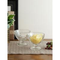 Uniglass Quartz Dessert Glass Bowls Set, 375ml, Set Of 6, Transparent