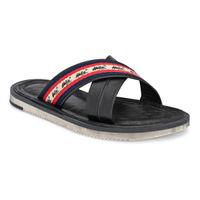 Hitz Black Leather Sandal