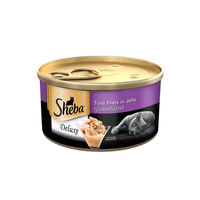 Sheba Premium Wet Cat Food Food, Pure Tuna White Meat in Jelly Can