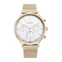 Titan Light Leathers IV -90134WM01-Silver White -Analog Watch for Men