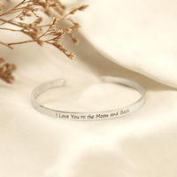 Joker & Witch I Love You To The Moon And Back Silver Mantra Bands