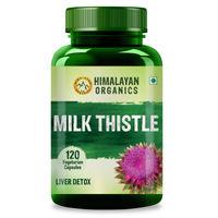 Himalayan Organics Milk Thistle Extract Silymarin 120 Veg Capsules