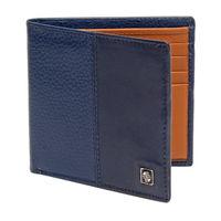 Carlton London Accessories RFID Mens Leather BI Fold Wallet Navy