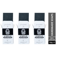 Concocted Al-Qahirah Luxury Handmade Charcoal Soap - Pack of 3