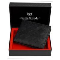 Smith & Blake Mens Wallet Genuine Leather Black |odin