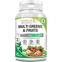 MuscleXP Multi Greens & Fruits Multivitamin 60 Tablets