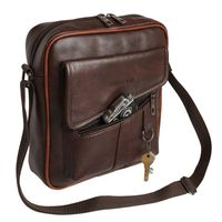 FUR JADEN Leatherette Crossbody Sling Bag (Brown)