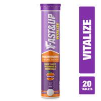 Fast&Up Vitalize Multivitamin Supplements - Orange (Tube Of 20)
