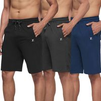 XYXX Men's Cotton Modal Solid Ace Lounge Shorts, Pack Of 3 - Multi-Color