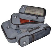 EUME Polyester Travel Pouch & Travel Organizer Pack of 4 (Grey)