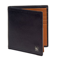 Carlton London Accessories RFID Mens Leather BI Fold Wallet Black