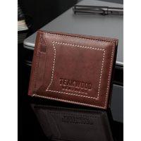 Teakwood Men Brown Solid Rfid Two Fold Wallet