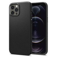 Spigen Liquid Air Designed For Iphone 12 Pro Max Case Cover (2020) - Black