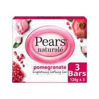Pears Naturale Pomegranate Brightening Bathing Soap Bar (Pack of 3) Save Rs. 37/-