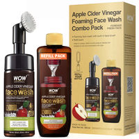 WOW Skin Science Apple Cider Vinegar Foaming Face Wash + Refill Combo Pack