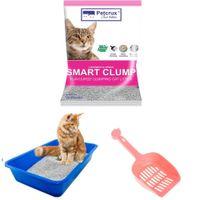 PetCrux Exclusive Scoopable Cat Litter Starter Kit Includes 1 PetCrux Bentonite Cat Litter