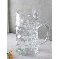 Oberglas Glass Beer Mug - 1 Piece, Clear, 1000ml