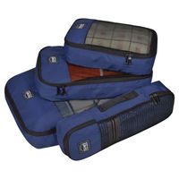 EUME Polyester Travel Pouch & Travel Organizer Pack of 4 (Navy Blue)
