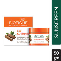 Biotique Bio Sandalwood Ultra Soothing Face Cream SPF 50+ UVA/UVB Sunscreen