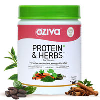 OZiva Protein & Herbs Women, Protein with Multivitamin for Better Metabolism, Skin & Hair,Chocolate