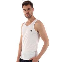 ALMO Fresco Slim Fit 100% Cotton Vest (pack Of 5) - White