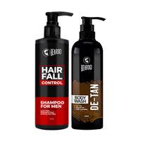 Beardo Hair Fall Control Shampoo & De-Tan Bodywash Combo