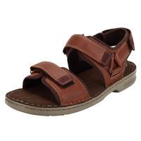 Clarks Malone Shore Mahogany Leather Sandals