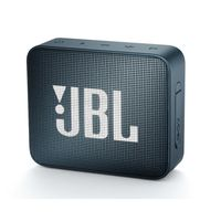 JBL Go 2 Portable Waterproof Bluetooth Speaker with mic (Navy)