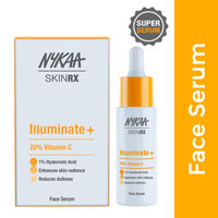 Nykaa SKINRX 20% Vitamin C Face Serum for Bright, Glowing & Radiant Skin with 1% Hyaluronic Acid