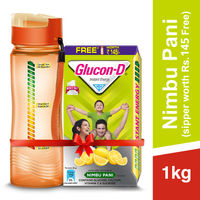 Glucon D Instant Energy Health Drink Nimbu Pani - Refill (Sipper Worth 145 Rupees Free)