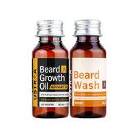 Ustraa Beard Growth Oil Advanced 60ml & Beard Wash Woody