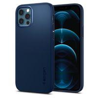 Spigen Thin Fit Designed For Iphone 12 / 12 Pro Case Cover (2020) - Navy Blue