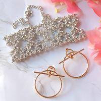 Bellofox Gift Box Of Abida Choker & Grande Earrings Combo