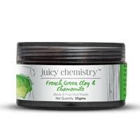 Juicy Chemistry French Green Clay & Chamomile (For Body & Feet Detox Mask)