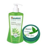 Himalaya Purifying Neem Face Wash+neem Face Gel Combo