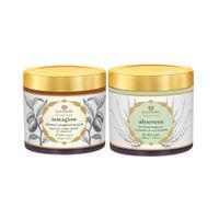Just Herbs Glow Getter Almond Face Pack & Aloe Vera Gel Combo