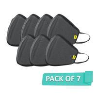 Nova Hexa Shield SN95 Reusable Outdoor Protection Superior Mask Free Size - Pack of 7 (Grey)(7Pcs)